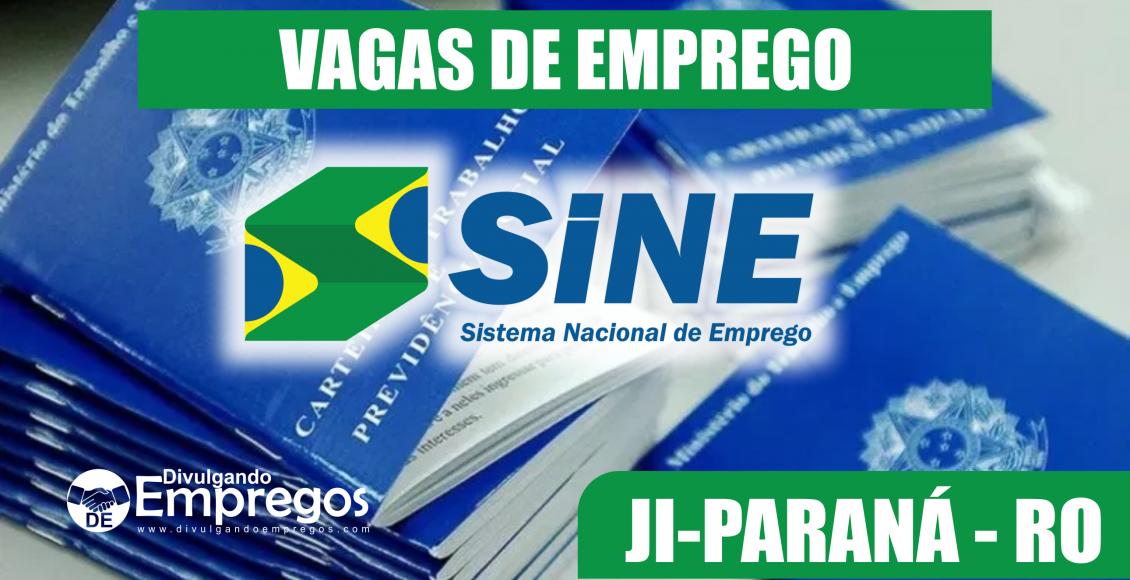 agas de Emprego do SINE de Jí-Paraná