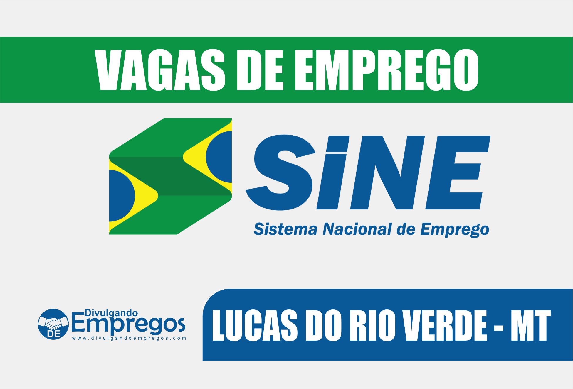 agas de Emprego do SINE de Lucas do Rio Verde