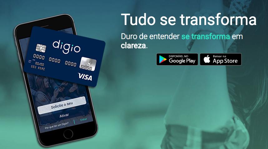Cartão de Crédito Digio Visa Internacional e Sem anuidade